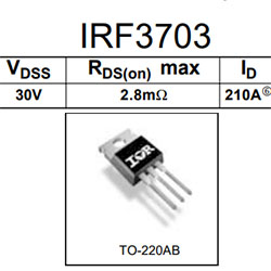 IRF3703 30v, 210A, 2.8mΩ, logic level MOSFET. Демонтаж