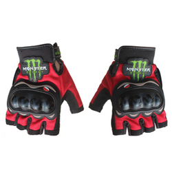 Перчатки PRO-BIKER monster energy без пальцев, красные ХL