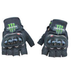 Перчатки PRO-BIKER monster energy без пальцев, черные L