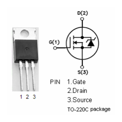 IRFZ44N 55v, 49A, 32mΩ, MOSFET